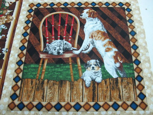FABRI QUILT.- 4 paw dog pannel 2