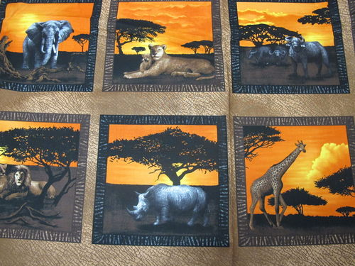 FABRI QUILT -SERENGETI SUNSET PANEL