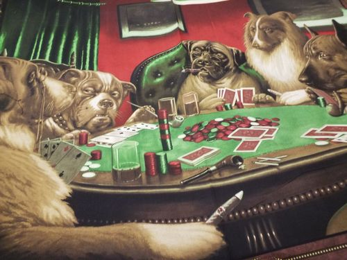 DOGS PLAYNG POKER